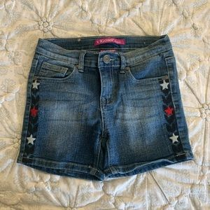 Vigoss Shorts with Red/White/Blue Stars, Size 12